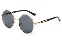 Wholesale Sun Glasses For Ladies - Sunglasses For Men Women Fashion Retro Sunglases Ladies Sunglass Mens Designer Sunglasses UV 400 Womens Luxury Round Sun Glasses 6C0J1