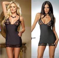 Wholesale Hot Sexy Doll Women - Women Sexy Lingerie Hot Erotic Lingerie lenceria sexy 2017 sexy nightwear One Size Baby Doll Night Wear