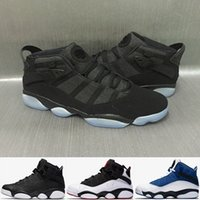 Wholesale Rings Lace - 2017 New Air Retro 6 Rings Basketball Shoes Alternate Oreo Black Grey Chameleon for Men Sneakers Shoes 6s Gold Carmine Trainers
