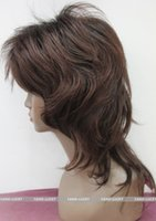 Wholesale wine red short hair resale online - charming beautiful new Best Hot sell Best Women wig Ladies Natural Type Short Wine red mix Full wigs Hair Cosplay