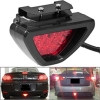 Wholesale Led F1 - Universal F1 Style Car ATV SUV 12V LED Stop Fog Tail Brake Lights Lamp for car C163