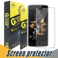 Wholesale lg optimus screen - Tempered Glass Screen Protector Anti Scratch 9H 2.5D Screen Protector Film For LG V20 K3 K4 K8 K10 2017 V10 Gx2 L80 LS660 Optimus F6