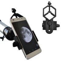 adaptador para telescópio venda por atacado-Adaptador de Telefone Celular Universal Mount-Compatível com Binocular Monocular Spotting Scope Telescope e microscópio adaptador frete grátis