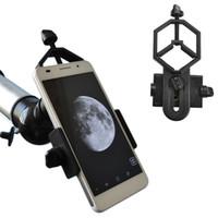 microscopio libre al por mayor-Soporte universal para adaptador de teléfono celular - Compatible con telescopio binocular telescopio telescopio y adaptador de microscopio envío gratis