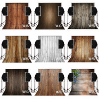 Wholesale paint photo backdrop - 3x5ft dark vintage brown wood photography backdrops for baby newborn camera fotografica digital cloth studio props photo background vinyl