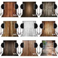 caméras en bois achat en gros de-3x5ft foncé vintage brun bois photographie décors pour bébé nouveau-né caméra fotografica numérique tissu studio accessoires photo fond vinyle