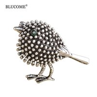 Harajuku Cartoon Bird Brooch Pins Women Cute Dress Decoration Antique Gold color Animal Broches Vintage Scarf Small Collar Clips
