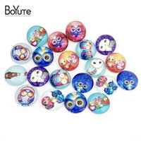 Wholesale image cabochon for sale - Group buy BoYuTe mm Round Pattern Owl Cabochon Kawaii Image Glass Cabochon Diy Jewelry Findings Bubble Bag For Safety