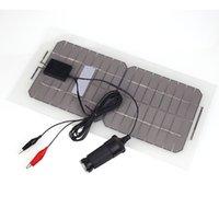 Wholesale Car Battery Charger Solar Powered - 18V 5.5W Solar Panel Bank Portable Flexible Solar Power Panel Car Battery Charger with Cable