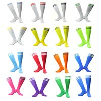 Wholesale Thick Soled Socks - Men soccer socks two stripes Long tube football thick soles running anti slip Sports Gym cycling Breathable 2017