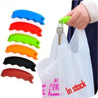 Nouveau Silicone Shopping Bag Basket Carrier Épicier Poignée Poignée Confortable Poignées Effort-Save Body Mechanics Multi Couleur XL-G189