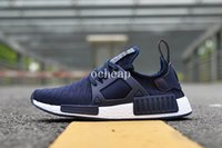 Wholesale Zebra Linens - NMD XR1 Navy Zebra Olive OG Triple Blcak Triple White Linen Duck CamoMaroon Burgundy Running Shoes Womens Mens Nmds Runner Sneakers 36-45