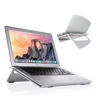 Wholesale Laptop Bag Desk - Aluminum Laptop Stand Cooling Sturdy Notebook Desk for MacBook Laptop iPad 10 to 15 inch with Multiple Viewing Angles Opp Bag