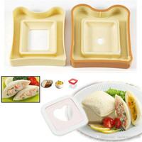 Wholesale Rice Cake Maker - Sandwich Maker Cutter Toast Box Cake Rice Roll Mold Bento DIY Kitchen Gadgets KT0049