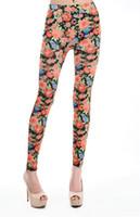 Wholesale Wholesale Leggings Sale Cheap - Wholesale- Drop Shipping Hot Floral Printed Leggings Black supernova sale Elastic Skinny Pants Cheap Price women legging plus size