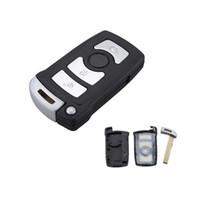 caso clave de shell para bmw al por mayor-Garantizado 100% para BMW 7 Series 745 750 i Li Smart Car Keyless Remote Fob Key Shell Case 3 botones envío gratis