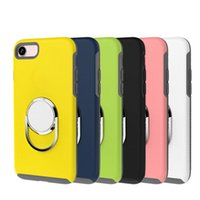 Wholesale integrated car resale online - 360 Degree Metal Kickstand Crystal Soft TPU Silicone Case For Iphone Plus S Car Holder Stand Integrated Bracket Clear Phone Skin Cover