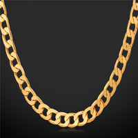 Wholesale 5mm figaro chain necklace - '18K' Stamp Men's High Quality Gold Plated Chunky Necklaces Chains 18K Real Gold Plated Figaro Necklace 5MM 55CM 22'' YS744