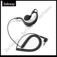 Wholesale Earpiece Earphone For Radio - 3.5mm plug G type Listen only earpiece receive only earphone for baofeng walkie talkie two way radio speaker microphone