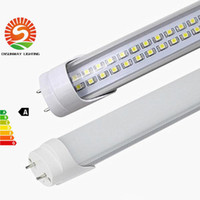 Wholesale Dual Lamp - US Stock 25PCS best T8 Led Tubes Light 28W Dual Rows SMD2835 4FT 1200mm Led Fluorescent Tube Lamp Warm Natrual Cold White AC85-265V