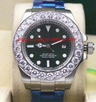 homens relógios de ouro verde venda por atacado-Relógio não utilizado mostrador verde 116660 44mm Bigger Diamond Cerâmica Bezel Movimento Automático Homens Relógios Top Quality Luxury Wristwatch
