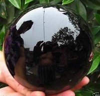 Оптовый 110-миллиметровый стенд-Natural-Black-Obsidian-Sphere-Large-Crystal-Ball-Healing-Stone