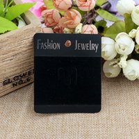 Wholesale Gift Card Display Holders - 100 Pcs Lot 6.3*7.5cm Hot- Black Jewelry Display Cards Brooch Cards Plastic Display Cards Halloween Christmas Gift Holder