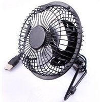 Vente en gros - USB à 360 degrés Rotating PC Ventilateur USB pur métal Mini 4 pouces Desktop Office Étudiants Small Household Cooling Fan