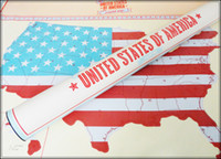 Wholesale Gift Card Sticker - USA Scratch Map Of American Country Map Packed in Card Tube Scratch off Map Travel Vacation Traveler Log Gift United States 84*59cm