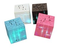 Wholesale Magic Cards Flash - New Magic Cube Wireless Bluetooth Speaker With LED Flash light Support SD Card Portable 2 generation Q Plus Bluetooth Speaker Bass