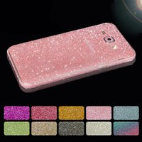 para Samsung Galaxy A5 2017 Glitter Full Body Sticker Decal Cover para Samsung A3 A5 A7 2017 Bling Diamond Phone Skin