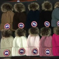 Wholesale Christmas Ski Hat - wholesale 12 Solid Color Fashion Winter brand Hat For Women Warm Knitted Hat Girls Ski Hard Hat Cap Female Warm Cap Skullies Hats For Women