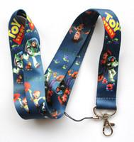 Wholesale free animated - Hot sale wholesale 50pcs cartoon Animated characters phone lanyard fashion keys rope neck rope card rope free shipping 173