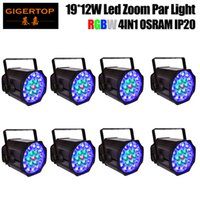 Wholesale pin electronics for sale - TIPTOP Pack x12W RGBW DMX Zoom Stage Par Light Electronic Dimming Flicker Free Operation for TV FILM Pin XLR DMX Optional TP P84