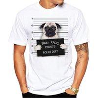 Wholesale Short Sleeve Police Shirt - Camping Hiking T-Shirts Creative Dog Police Dept Design Men T Shirt Pug Printed T-shirt Short Sleeve Casual French Bulldog Tops