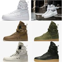 Wholesale Gum Drop - 5color Drop Shipping Famous Special Forces Force 1 One Boots Faded Olive Black Gum Light Brown Mens Womens Sport Athletic Trainers 36-45