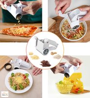 Wholesale Nut Steel - Rotary Cheese Grater Chocolate Nuts Shredder Sharp Stainless Steel Drums Razor Slicer Handheld Slicer Cheese Cutter 150pcs OOA2502