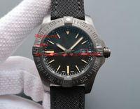 top mekanik otomatik saatler toptan satış-En kaliteli Lüks Saatı 44mm Avenger Blackbird Otomatik Mekanik Siyah Dial V1731110-BD74GCVT Mens erkek Izle Saatler