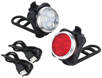 Wholesale Front Bike Lights - Rechargeable Headlight Taillight Combinations,Includes Front and Rear Bicycle Light Set, Bike Lights,2 USB Cables,4 Light Modes, 350lm,Water