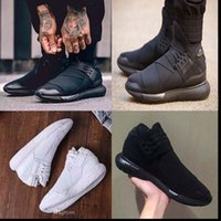 Wholesale Shoes Casual Woman High - Best quality Y-3 QASA high Triple white and Black Men Women running Shoes Couples Casual Shoes sneaker Y3 QASA outdoor sports shoes 36-45