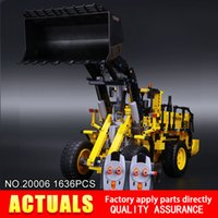 Wholesale Car Model Volvo - NEW LEPIN 20006 Technic series 1636pcs Volvo L350F wheel loader Model Building blocks Bricks Compatible 42030 boy gift car Toys