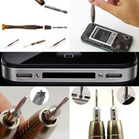 Wholesale tablet ipad repair - universal cellphone repair tool kit 25 in 1 Pentalobe Screwdriver pry tool for iph 4 4s 5s samsung ipad tablet tab 3.0 with dhl free