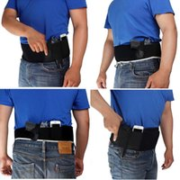 Wholesale Holster Pistol - vapanda Neoprene Men Women Belly Band Concealed Gun Pistol Holster Right Left Hand For Glock 17,19 ,Ruger LCP and other comparable gun