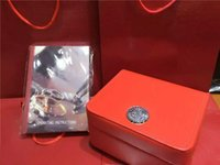 Wholesale High Quality Mens Bags - High quality Luxury Brand Red Mens Original Watch Box Gift Womens Watches Boxes Certificate Cards Books Bag