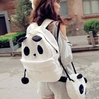 Wholesale Cute Panda Backpacks - High Quality New Hot Fashion Cute Girl Style Panda Schoolbag Backpack Shoulder Book Bag Set 641113