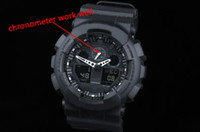 Wholesale Original G Watch - Original Color All Function ga100 Led Army Military Shocking Watches Mens Waterproof Watch all pointer work Digital G Sports Wristwatch