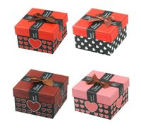 Wholesale Paper Watch Gift Box - Jewelry Display Box Watch Box Packing Box with Pillow Paper Gift Case For Jewelry Watch Fashion Watch Boxes 8.8CM*8.8CM*5.5CM