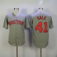 Wholesale Boston Apparel - Men's Boston Red Sox Jersey 41 Chris Sale Baseball Jerseys Sports Outdoors Athletic Apparel Sale Jersey
