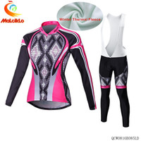Wholesale Thermal Set Women - 2017 New! Women's Winter Thermal Fleece Cycling Jersey Set. Bicicleta Jersey Ciclismo Ropa Maillot Outdoor Sportswear. B085LD