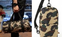 Wholesale Men Canvas Bags Sling - Men Chest Pack Sling Single Shoulder Strap Pack Bag Travel Bags Camouflage Canvas Rucksack Chest backpack